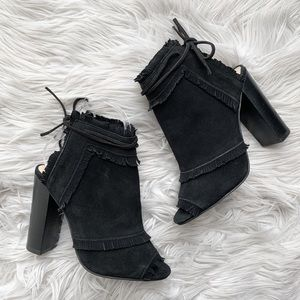 Anthropologie Silent D Genuine Suede Ankle Bootie